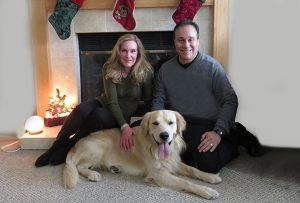 Victor, Sonja and Golden Retriever Luke
